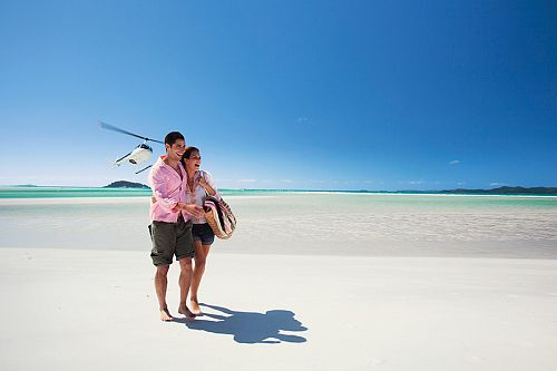 Couple on Whitehaven Beach, Australia - Bucket List Vacations - Australia, New Zealand, Fiji, Tahiti, Cook Islands Luxury Travel Agency