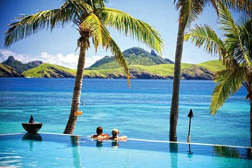 An infinity pool overlooking the ocean - Tokoriki Island Resort - Travel Fiji
