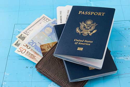 US Passport and Wallet with International Currency