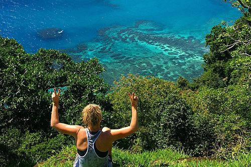 5 Reasons to Go Hiking in Fiji - Matangi Island Hike with Views of Horseshoe Bay