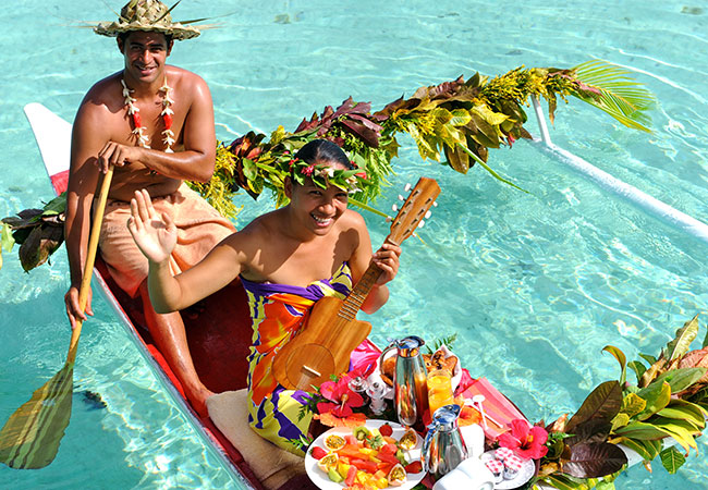 Breakfast Delivered by Canoe - Top French Polynesia Experiences