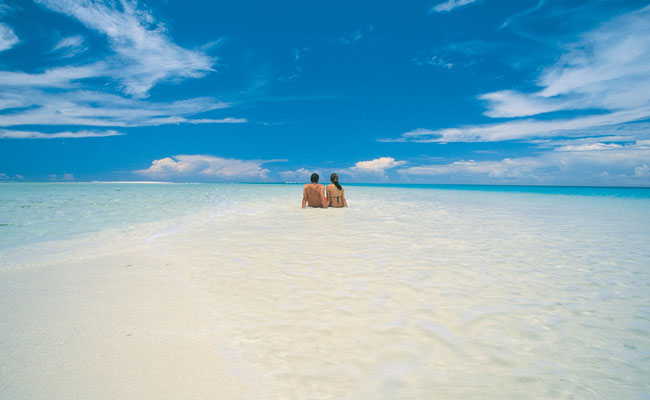 Resting on a Sandbar - Royal Davui Island Resort - Fiji Travel - Trip to Fiji