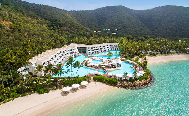The beautiful Hayman Island by InterContinental resort in the Whitsundays