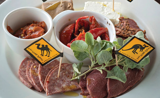 Kangaroo and Camel meat Plate - Tourism Australia - Travel Australia Food and Wine