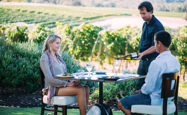 Drinking Wine by a vineyard - Tourism Western Australia - Travel Australia Food and Wine