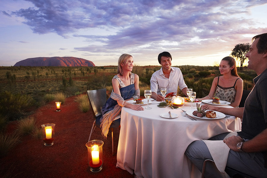 Sounds of Silence Dinner at Uluru Ayers Rock - Book Your Australia Vacation - Australia Travel Agency