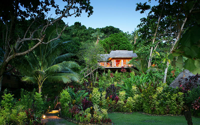 Matangi Private Island Resort Fiji - Treehouse Surrounded by Tropical Gardens