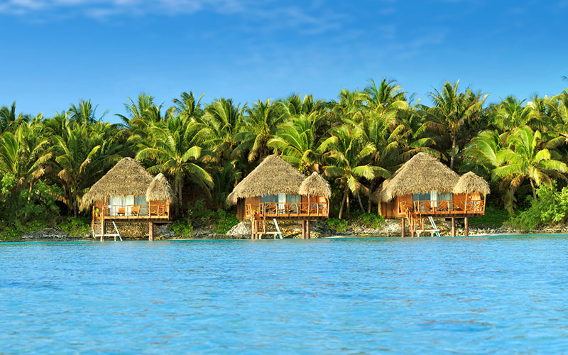 Overwater Bungalows at Aitutaki Lagoon Resort, Cook Islands