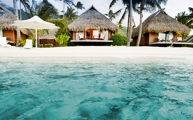 Beautiful Beach Bungalows at Manava Moorea Resort