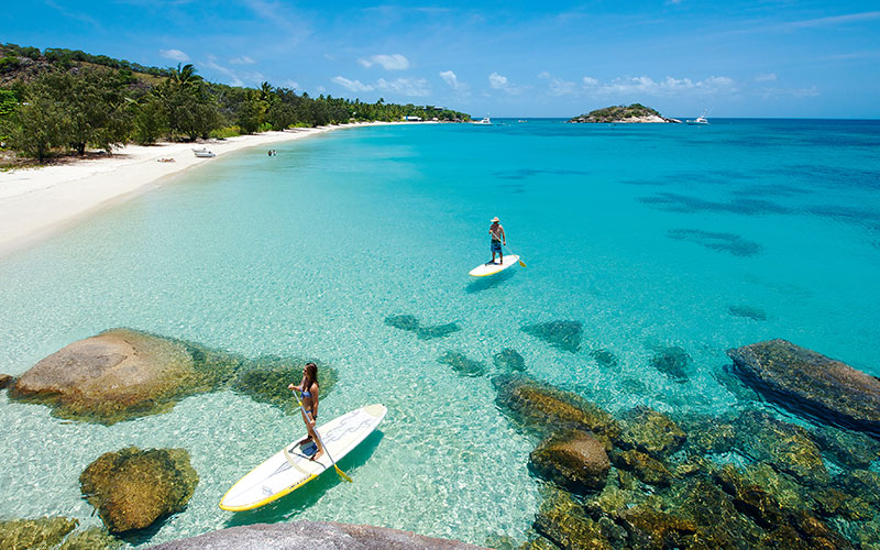 Stand Up Paddle Boarding at Private Beaches - Lizard Island, Great Barrier Reef