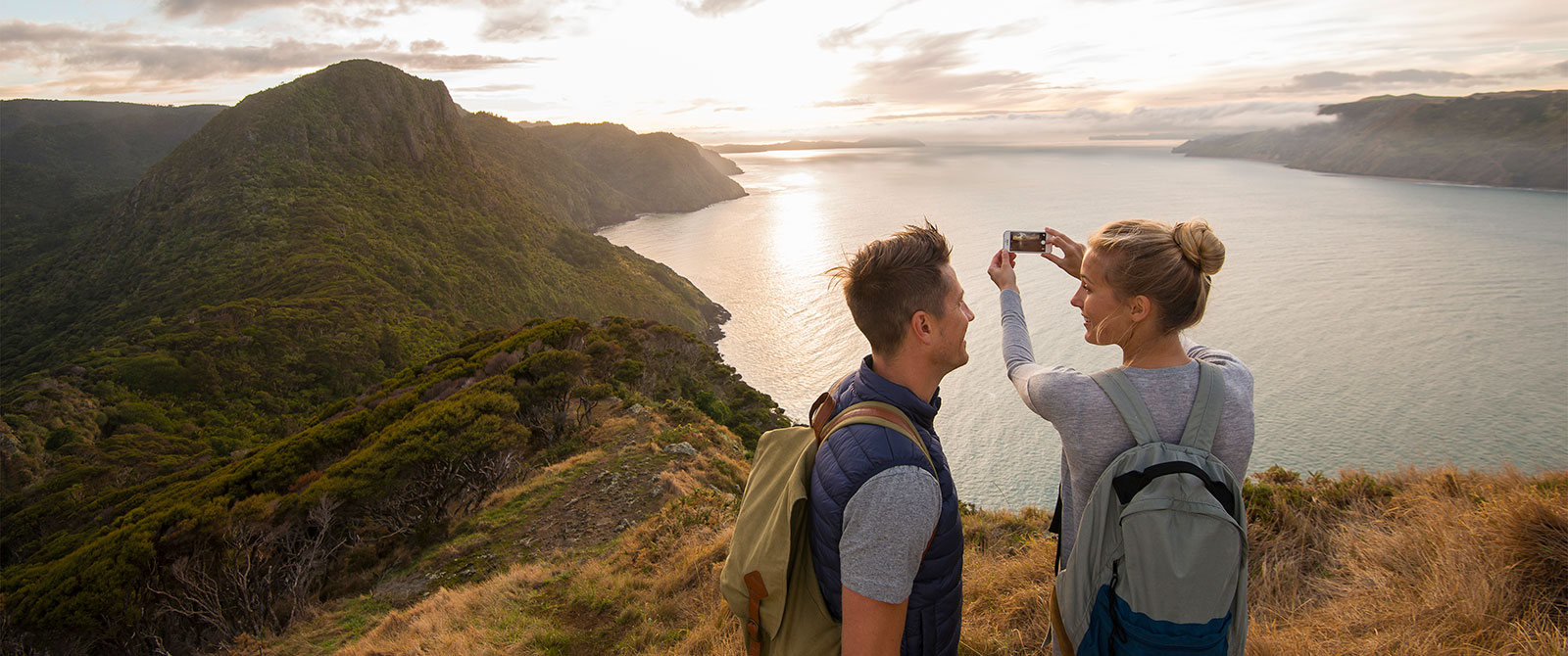 Couple Hiking the Waitakere Ranges in Auckland