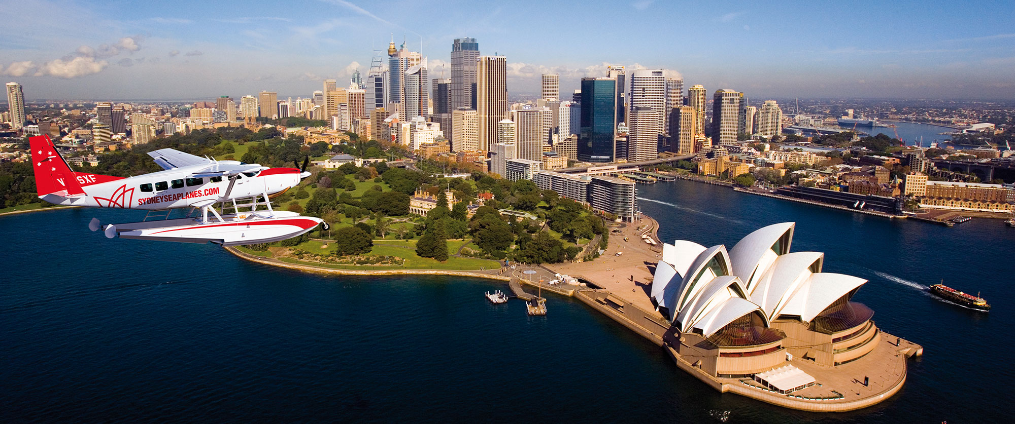Australia Luxury Vacations: Cities and Reef Package - Sydney Seaplane Excursion to Gourmet Lunch