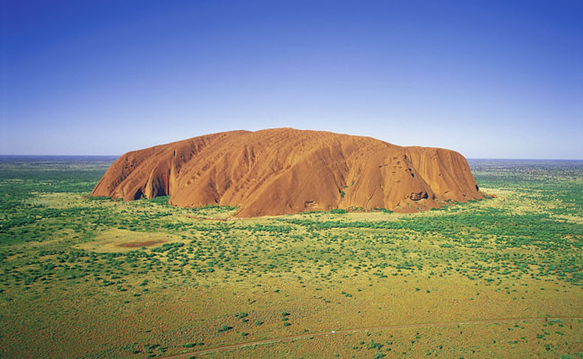 Aerial of Uluru Rock - Tourism Northern Territory - Best Places to Visit in Australia
