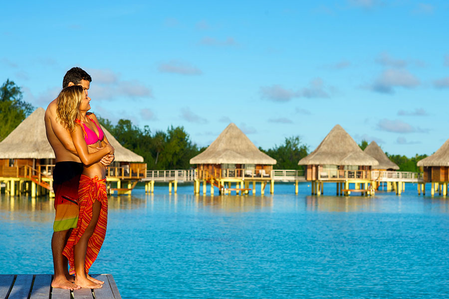 Romantic honeymoon packages - overwater bungalows - honeymoon - vacation - romance