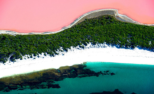 Lake Hillier is a striking shade of pink