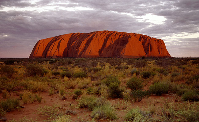 The magnificent Uluru, or Ayers Rock, in Australia's Red Centre