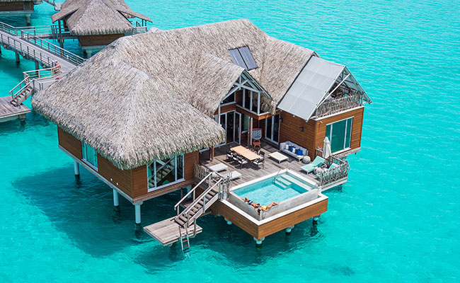 Best Overwater Bungalows Tahiti - Brando Suite at InterContinental Bora Bora Resort & Thalasso Spa