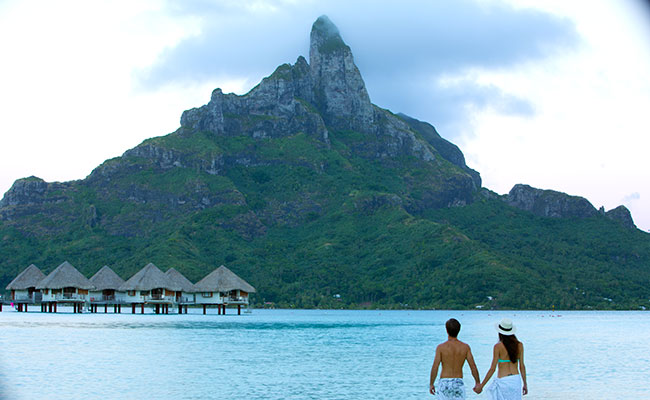 Best Overwater Bungalows Tahiti - Views of Mt Otehanu