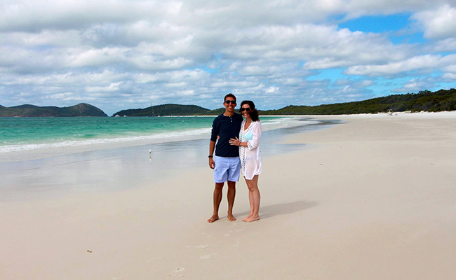 Luxury Travel Designer Ellen on Whitehaven Beach in the Whitsundays, Australia