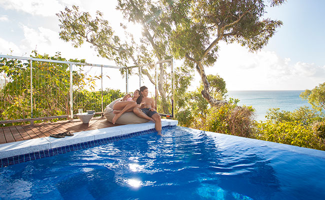 Relaxing by the Pool at Lizard Island Luxury Resort, Australia