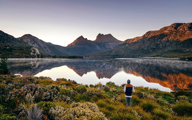 Tasmania Travel - Cradle Mountain at Sunrise