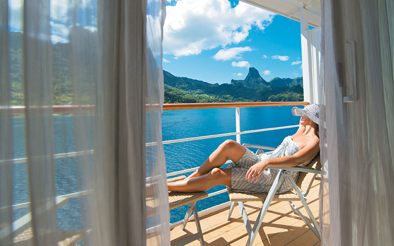 Paul Gauguin Cruises - Beautiful Ocean Views from Private Balcony