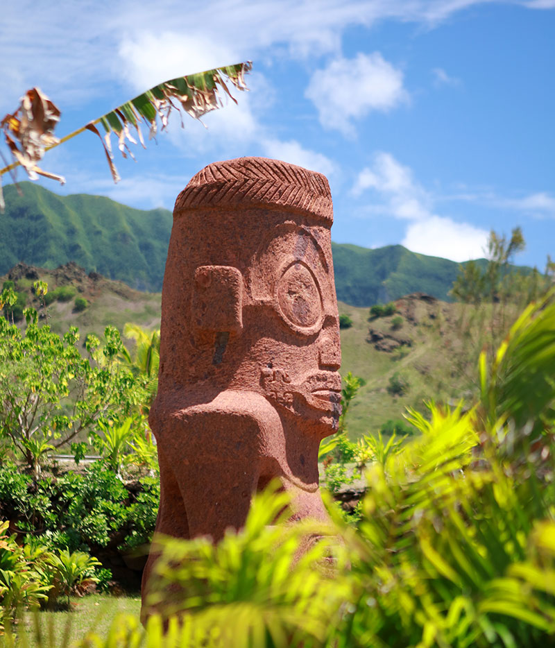 Ancient Carvings on Ua Huka Island