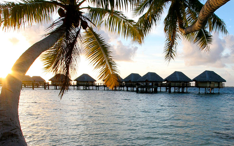 Overwater Bungalows at Manihi Pearl Beach Resort
