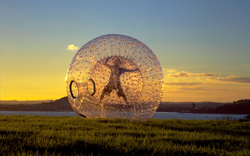 Zorbing Adventure in Rotorua, New Zealand