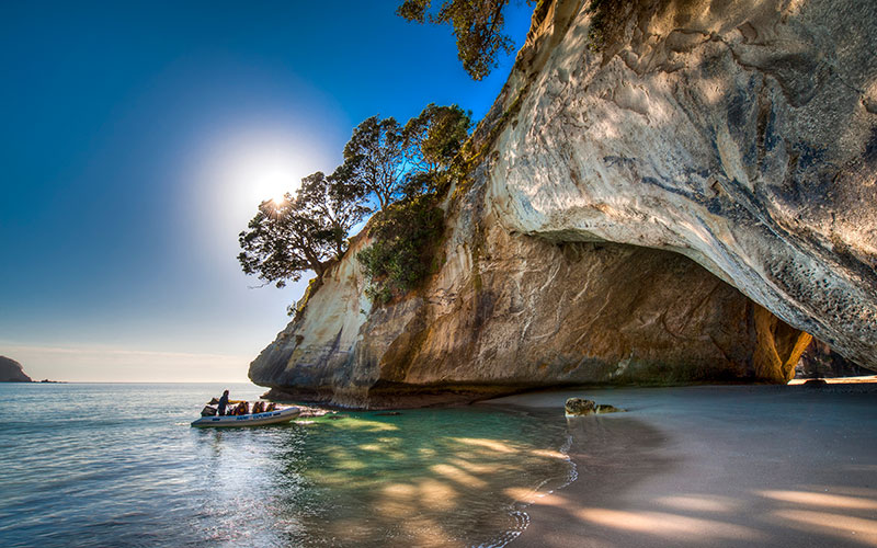 Sea Kayaking in the Coromandel Peninsula - Cathedral Cove, New Zealand