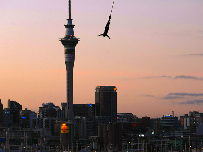 Bungy Jumping Off Auckland Harbour Bridge