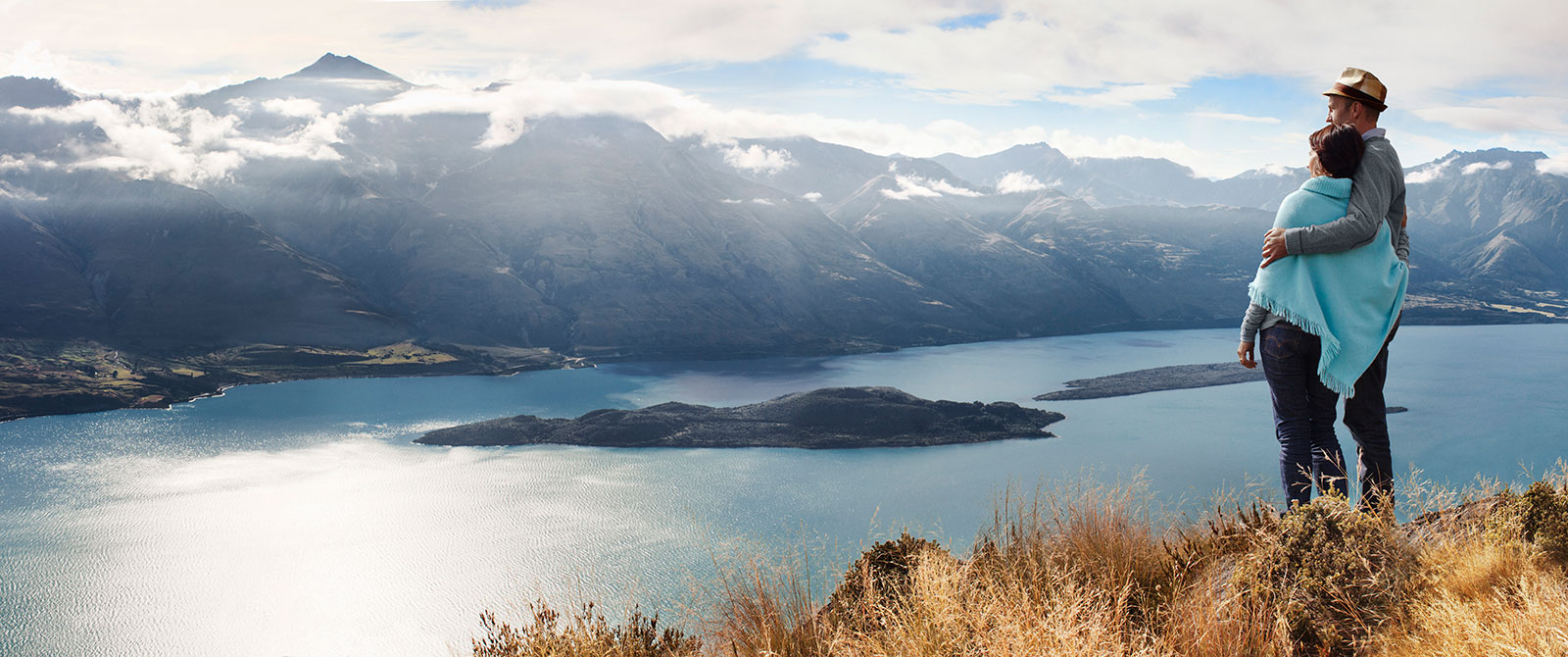 Looking Over Lake Wakatipu in Queenstown, New Zealand