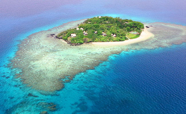 An aerial of the Royal Davui - Royal Davui Island Resort -Travel Fiji