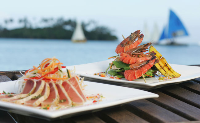 Beautiful seafood dishes - Pacific Resort Rarotonga - Travel South Pacific Beaches
