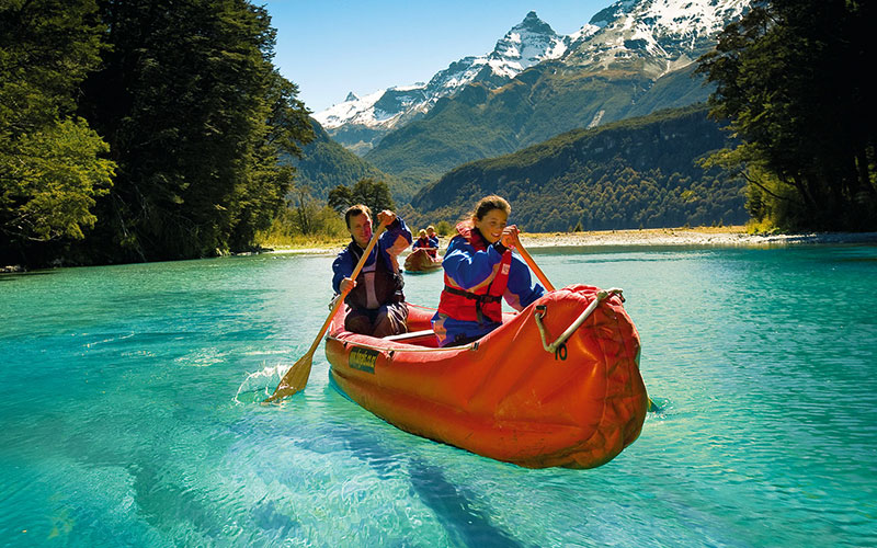 Family funyak adventure on Dart River New Zealand