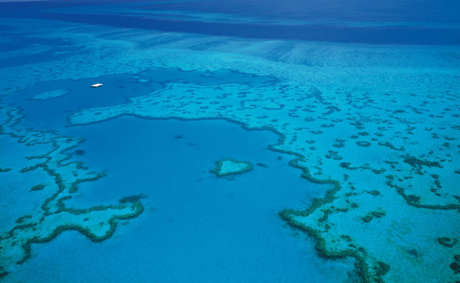 The turquoise waters of the Great Barrier Reef - Tourism Queensland - Australia Family Travel