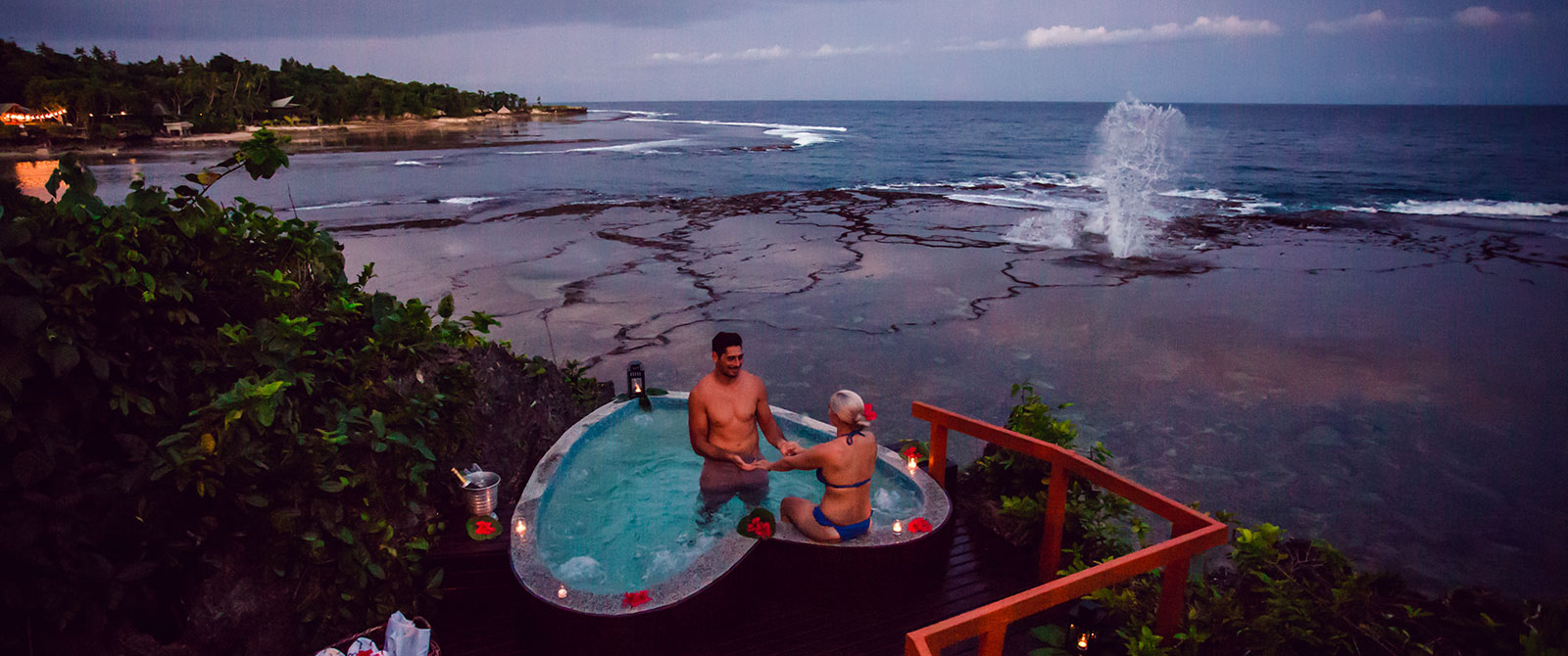 Heart Shaped Pool at Namale Resort Fiji - Honeymoon Packages