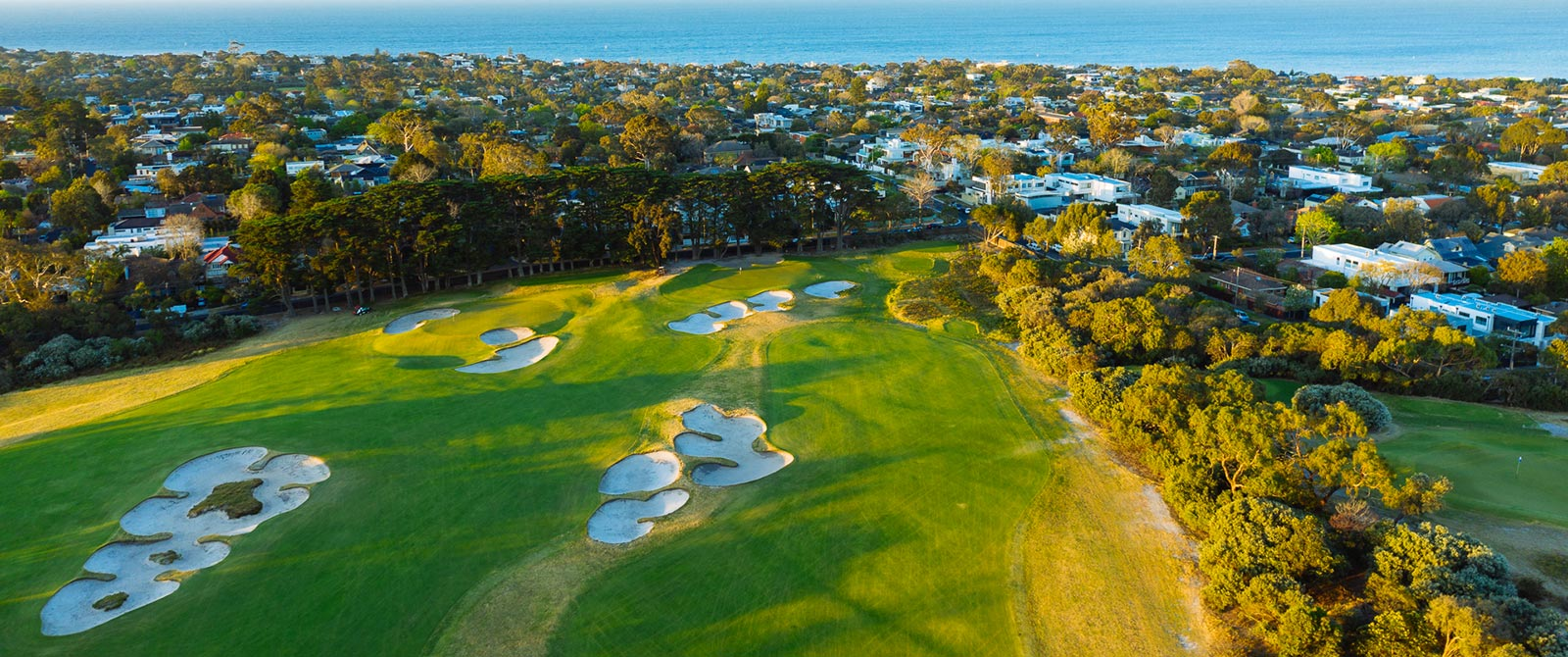 Aerial View of Royal Melbourne Golf Club - Sandbelt Golf Courses Australia