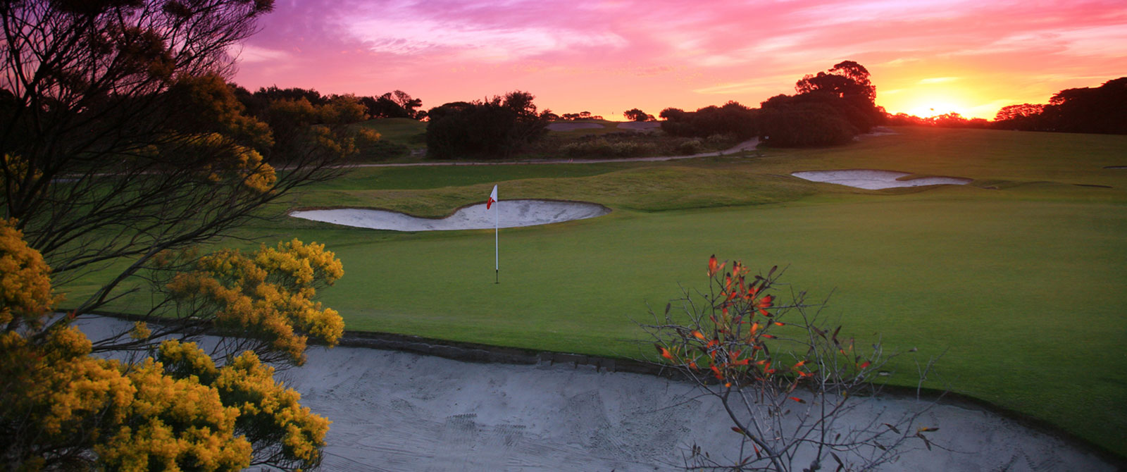Sunset at Royal Melbourne Golf Club