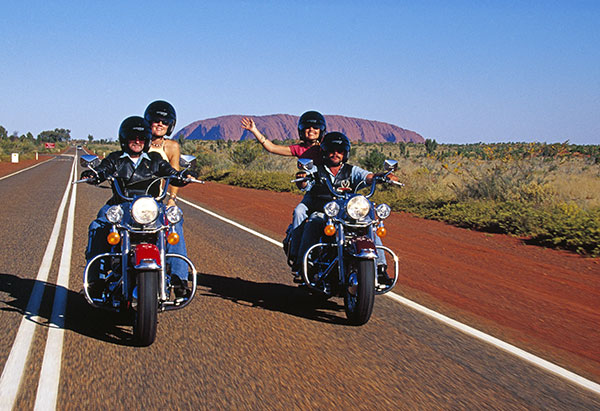 Motorcycle ride Uluru Australia