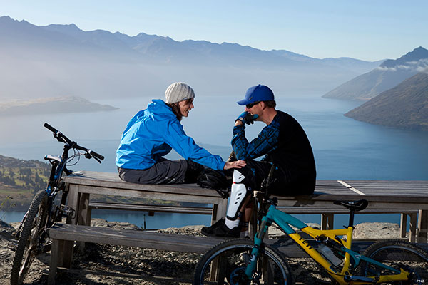 Bike to Bob's Peak, Queenstown, New Zealand