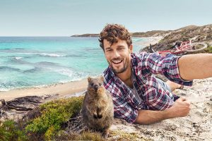Selfie with a Quokka in Western Australia