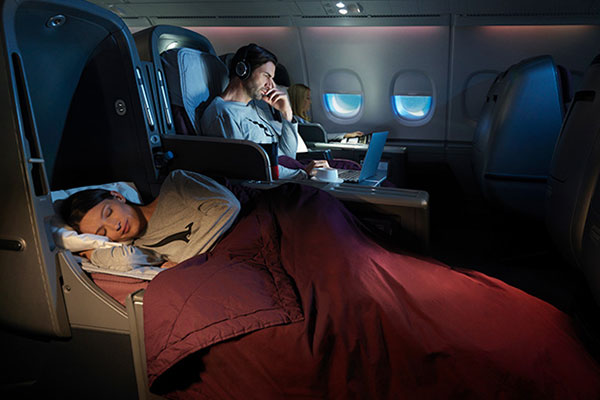 Fly Qantas Business Class to Australia