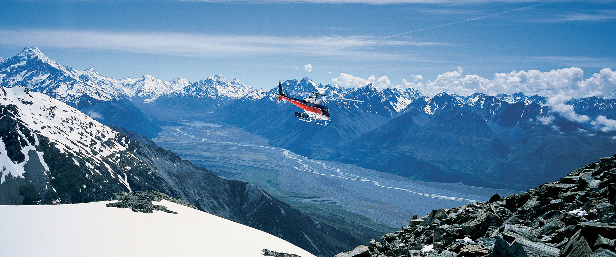 New Zealand Romantic Luxury Vacation - Queenstown Helicopter Over Mt Cook