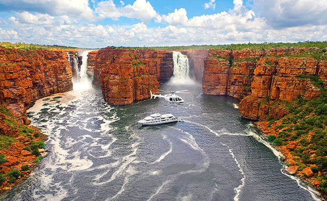 Australia Outback Vacations - True North Adventure Cruise in the Kimberley - Kimberley Waterfalls