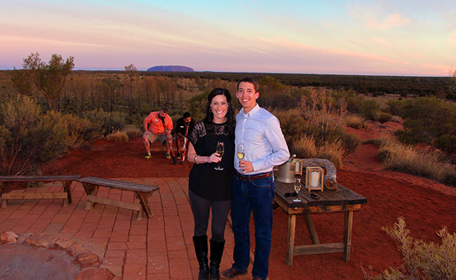 Tali Wiru dinner - Sunset at Ayers Rock