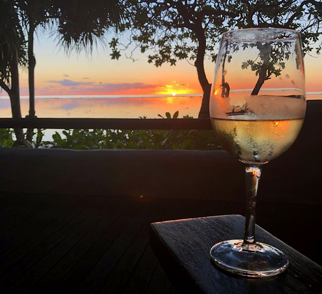 Cook Islands - Book Your Trip - Wine at Sunset