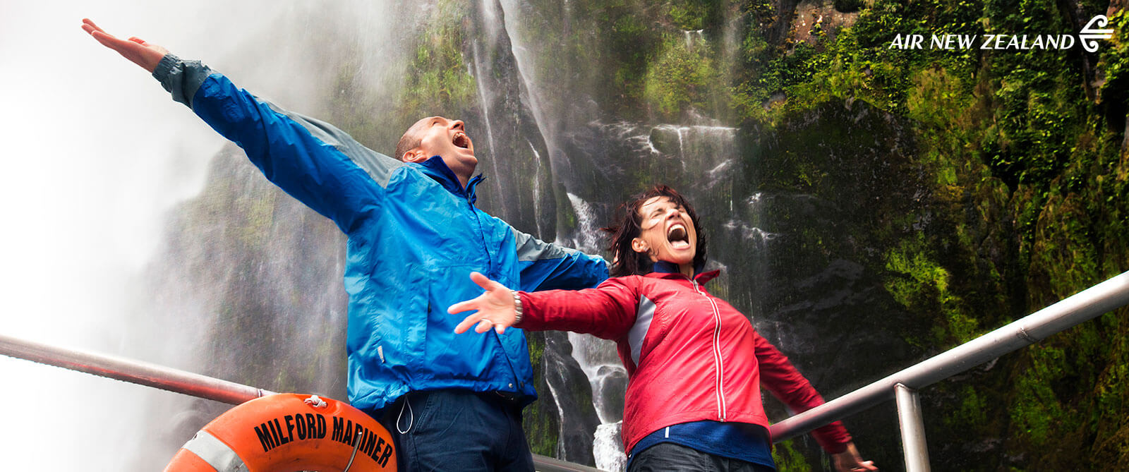 Milford Sound Waterfalls - New Zealand Highlights: Scenery, Adventure, and Wine Package