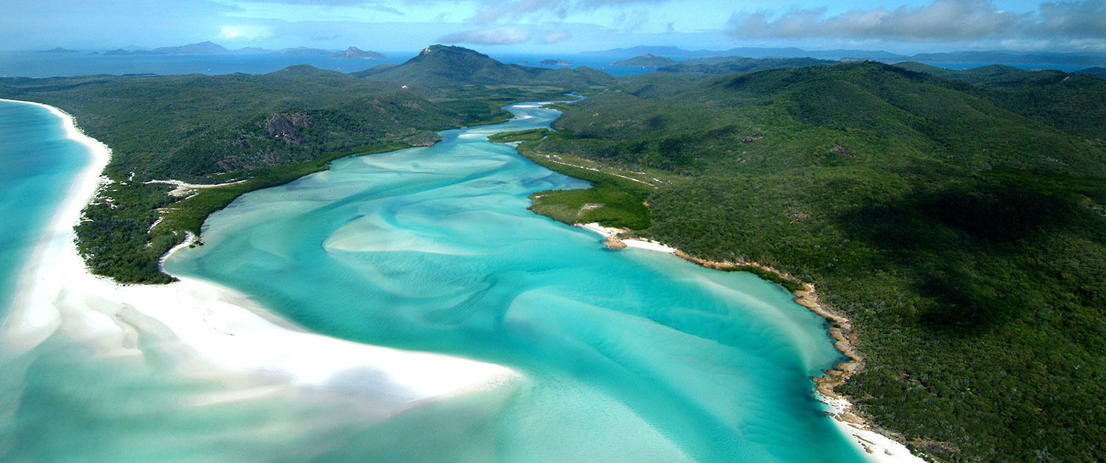 Hill Inlet and Whitehaven Beach - Australian Honeymoon - Great Barrier Reef Vacation Packages