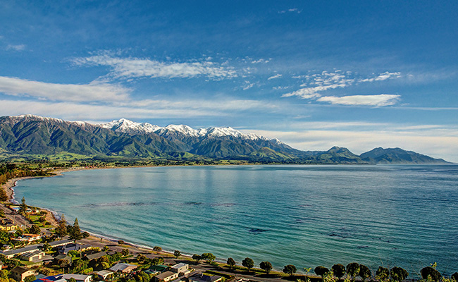 Kaikoura New Zealand Travel Guide and Things to Do - Panoramic View of Kaikoura Bay